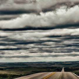 Beyond the Horizon by Sheen Deis - Landscapes Travel ( black hills, horizon, south dakota, roads )