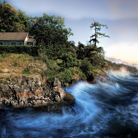 Saltspring Island by Jerry Kambeitz - Landscapes Waterscapes ( canada, waves, saltspring, pacific, ocean, bc )