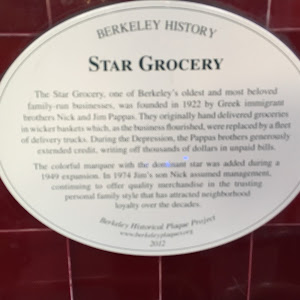 BERKELEY HISTORY STAR GROCERY The Star Grocery, one of Berkeley's oldest and most beloved family run businesses, was founded in 1922 by Greek immigrant brothers Nick and Jim Pappas. They originally ...