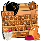 cute cat keyboard brown maine coon APK for iPhone