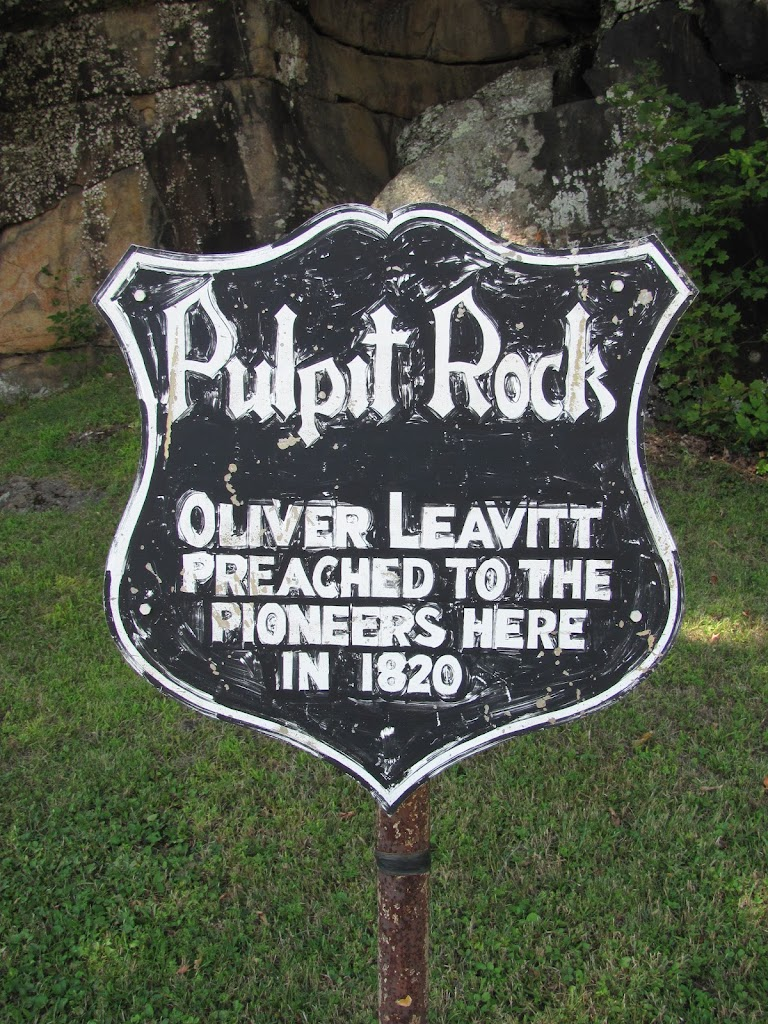 Pulpit Rock Oliver Leavitt Preached to the Pioneers here in 1820submitted by Alan R Reno