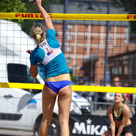 Beach volley by Simo Järvinen - Sports & Fitness Other Sports ( sand, ball, player, volleyball, sports, summer, game, beach, women )