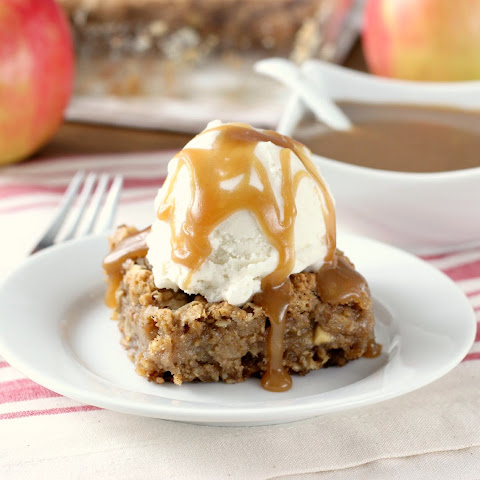 Salted Caramel Apple Oatmeal Cookie Bars