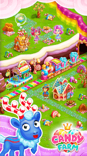 Sweet Candy Farm with magic Bubbles and Puzzles