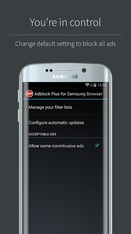 Adblock Plus (Samsung Browser) Screenshot 3