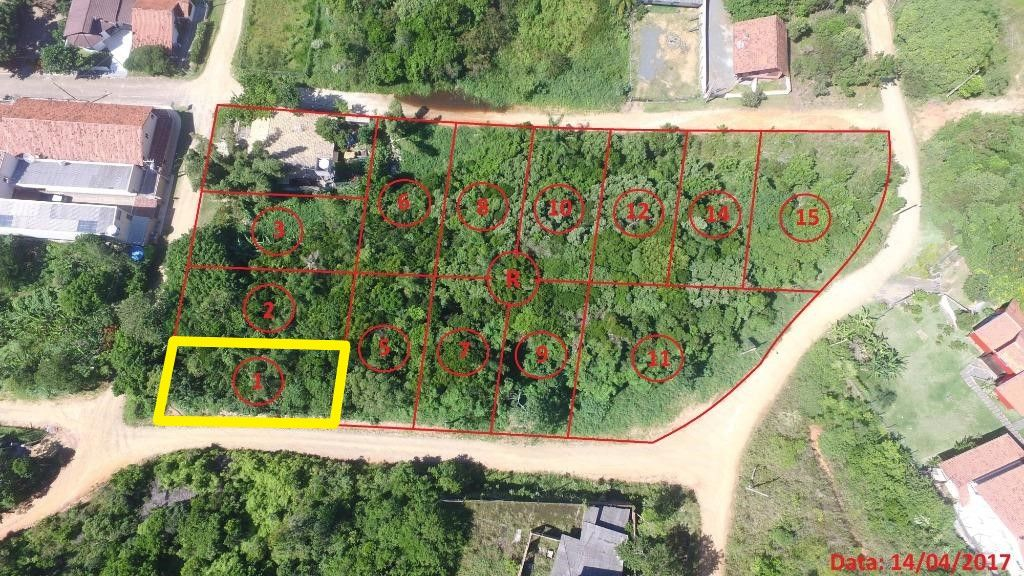 Terreno à venda, 520 m² por R$ 494.865 - Praia Grande - Penha/SC