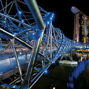 The Helix Bridge by Tim Teo - Buildings & Architecture Bridges & Suspended Structures