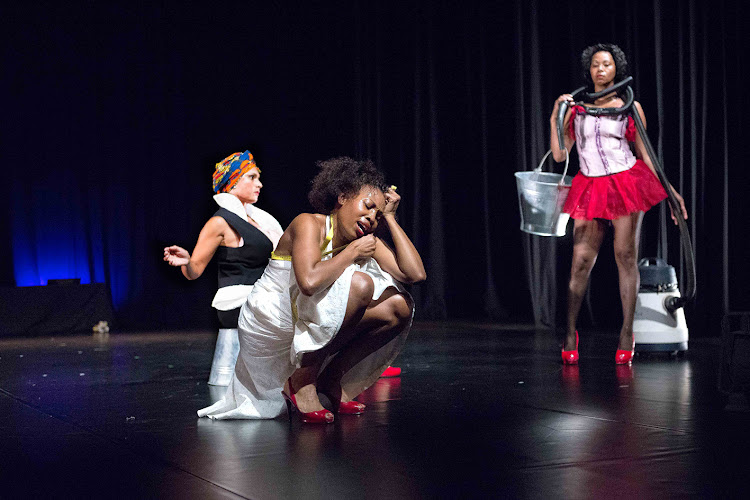 LADY LADY by Gaby Saranouffi, Desiré Davids and Edna Jaime in the Wits Theatre