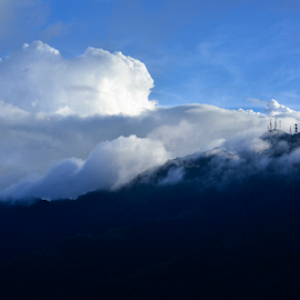 The Mighty Cloud by Jenkinson Balinggan - Landscapes Cloud Formations ( clouds, mountain, cloudscape, landscape )