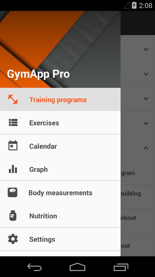 GymApp Pro Workout Log Screenshot 4