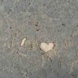 Love is all around  by Sharmila Narwani - City,  Street & Park  Street Scenes ( shape, its real, ground, heart, stone,  )