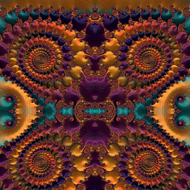 Fun with fractal  by Capucino Julio - Illustration Abstract & Patterns ( abstract, ipad, brown, fractal, design )