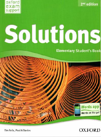 Решебник По Печатной Тетради Solutions Elementary Workbook