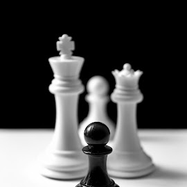 by Dragos Tranca - Digital Art Things ( psyche, black and white, family, chess, childhood )