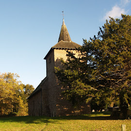 DOCKLOW CHURCH  by Laura Jones - Buildings & Architecture Places of Worship ( building, church, herefordshire, sunshine, worship )