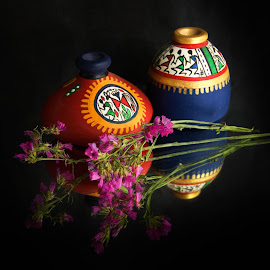 Mexican Vases by Prasanta Das - Artistic Objects Other Objects ( miniatures, mexican, vases )