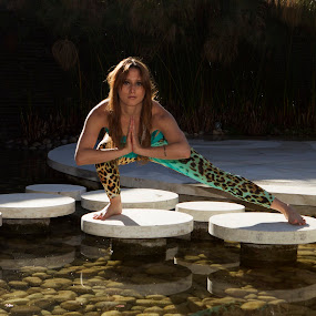 yoga Pose by Cristobal Garciaferro Rubio - Sports & Fitness Other Sports ( reflection, lady, beauty, yoga )