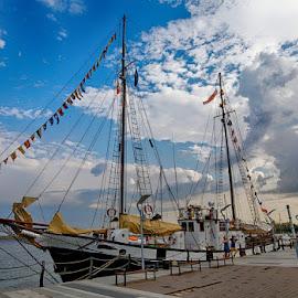 Nostalgic boats by Radu Eftimie - Transportation Boats ( old timers, black sea, boats, mangalia harbor )