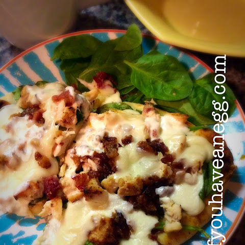 Chicken Bacon Naan Pizza – 7 Weight Watchers Points Plus per serving