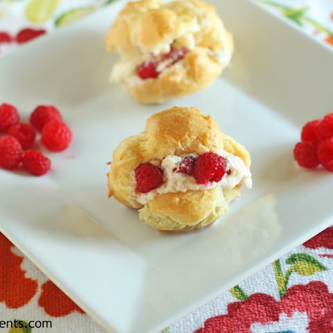 Cream Puffs with Raspberry Filling