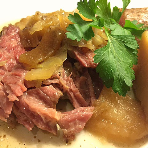 Slow Cooked Corn Beef and Cabbage