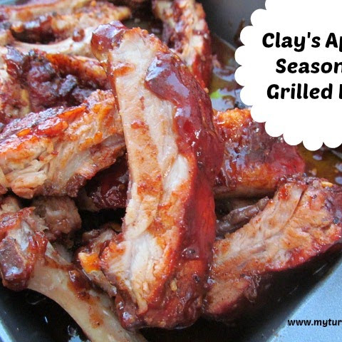 Clay's Apple Seasoned Grilled Ribs