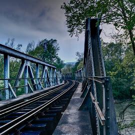 Railway tracks by Stratos Lales - Transportation Railway Tracks ( railway, railroad, greece, train, tracks )