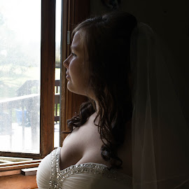 Today is it by Darrin Halstead - Wedding Bride ( soft focus, shadow, wedding, white dress, bride )