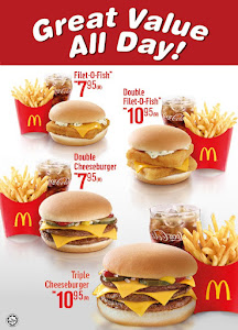 Mcdonald 39 s new great value all day promotion malaysia for Mcdonald s filet o fish price