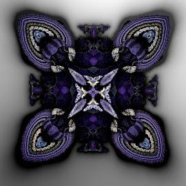 Purple beauty by Linda Czerwinski-Scott - Illustration Abstract & Patterns ( patterns, abstract art, 3d, fractal, design )