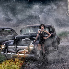The Storm by Kathy Val - Digital Art People ( clouds, lightning, beautiful, storm, rain, composite )