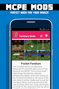 App Furniture Mods For Mcpe Apk For Windows Phone