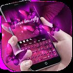 Purple Neon Butterfly Icon