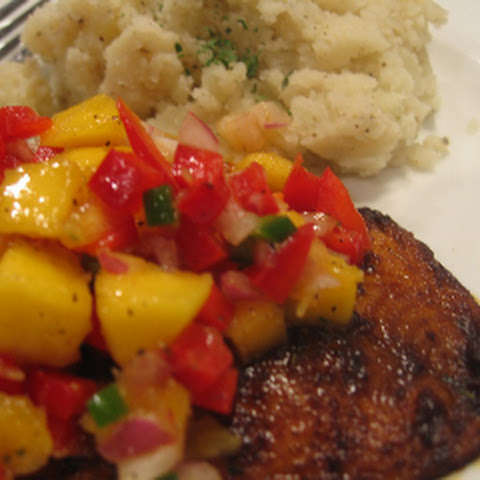 Blackened Tilapia with Mango Salsa