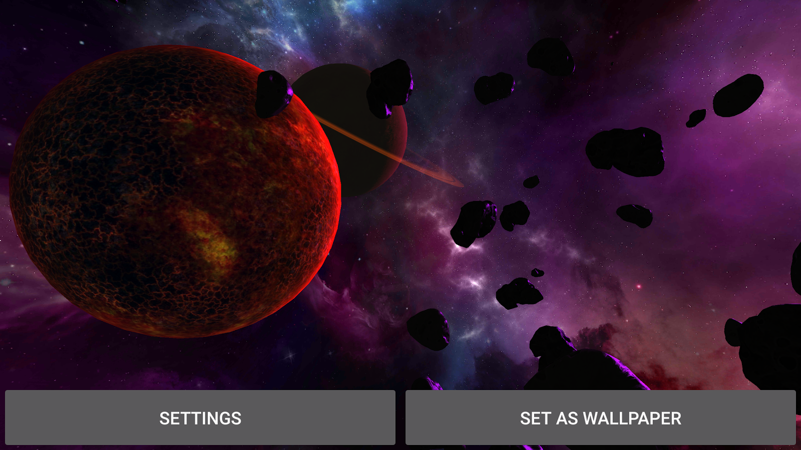 3D Galaxy Pack Live Wallpaper Screenshot 11