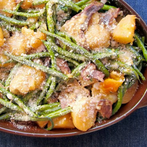 Pressure Cooker Green Bean Warm Salad OR Casserole!