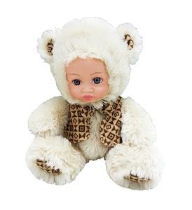 """Кукла """"Anna De Wailly"""" Медвежонок в жилетке 20 см"""