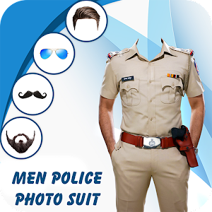 Man Mustache Police Photo Suit : Police Photo Suit