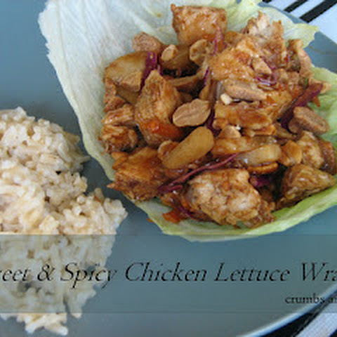 Sweet & Spicy Chicken Lettuce Wraps