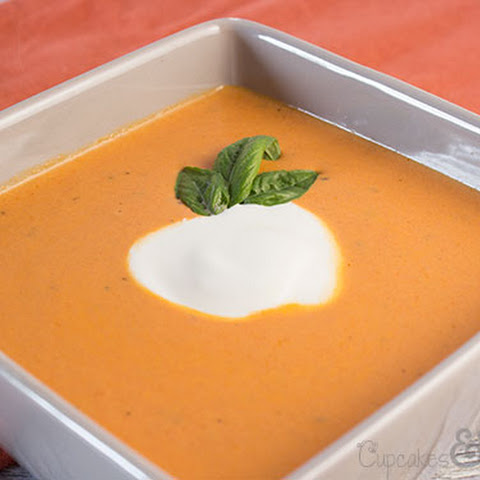 Light and Creamy Spicy Tomato Soup