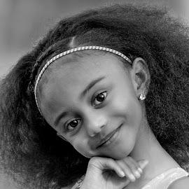 Cutie Pie by Sylvester Fourroux - Black & White Portraits & People