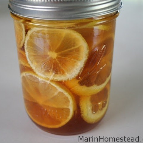 Lemon Ginger and Honey in a Jar
