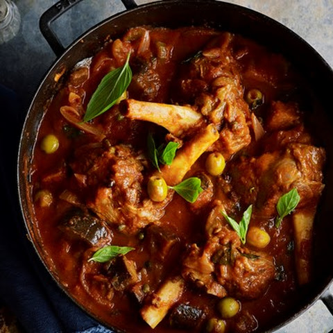 Lamb Shanks And Eggplant Stew