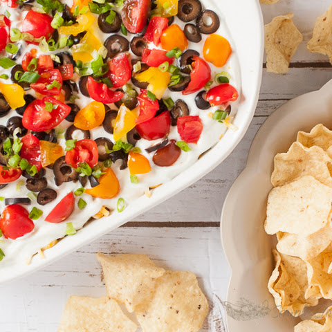 Seven Layer Touchdown Taco Dip