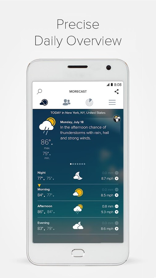 Weather & Radar - Morecast App Screenshot 6