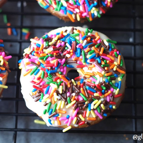Gluten-Free Vanilla Birthday Cake Donuts (11 Ingredients)