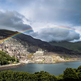 by Nicole Williams - Landscapes Weather ( clouds, mountain, slate mine, rainbow, rain )