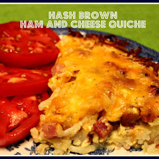 Hash Brown Ham and Cheese Quiche!