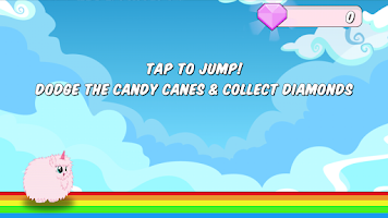 Screenshot of Pink Fluffy Unicorn Dash