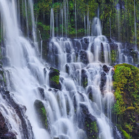 Burney Falls Details by Wenjie Qiao - Landscapes Waterscapes ( waterfall, burney falls )